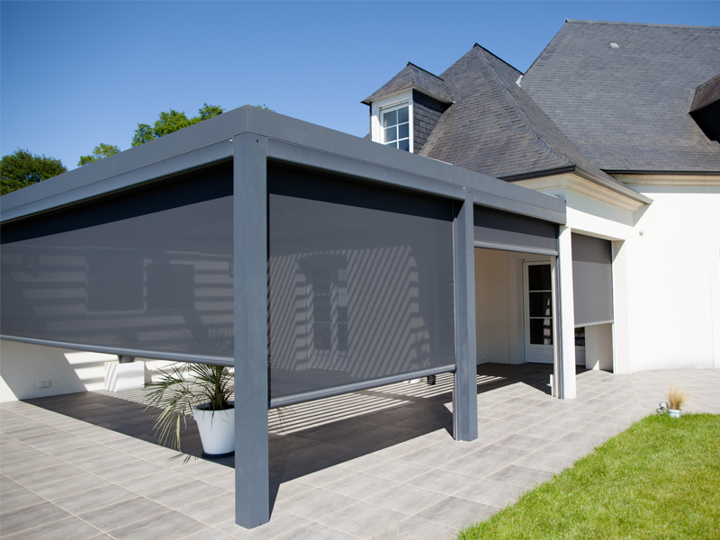 Protection solaire - Pergola alu lame orientable ...